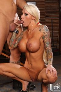 Amy Anderssen xxx pimpandhost lolly ink busty babe gets fucked tattoo parlor