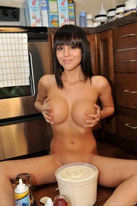 Bryci porn galleries bryci naked kitchen floor making sundae