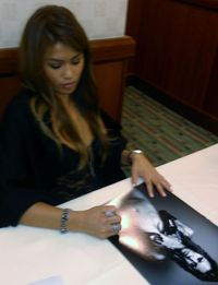 Charmane Starr porn media original charmane starr signed pretty porn star model autograph poster proof
