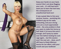 Mistress Jessica porn fetish porn makes take shemale cock femdom captions photo