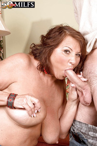 Suzie Wood porn pics sexy fat mom suzie wood teasing huge cock getting creamy facial