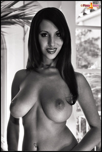 Jaime Hammer xxx pinup jaimehammer premium jaime hammer shows all natural breasts black white