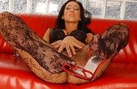 Mya Diamond sex gallery fishnet stockings mya diamond solo heels