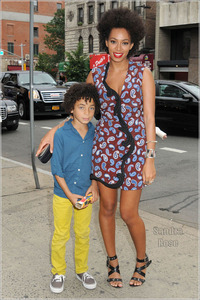 Stella Baby xxx solange son stella spl celebs out about knowles nia long rihanna