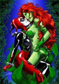 Harley Quinn porn media original rule poison ivy lipstick kiss harley quinn art porn comic