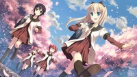 Cherry Blossom xxx wallpaper yuruyuri friends cherry blossom walking uniform